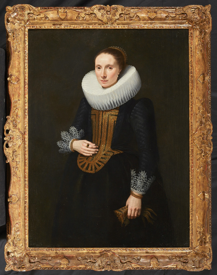 Portrait Of An Elegant Woman Unidentified Dutch Painter